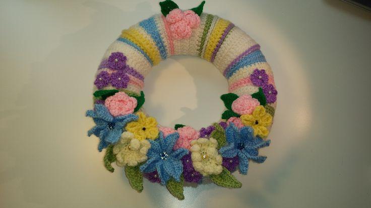 Věneček v jarních barvách - wreath.