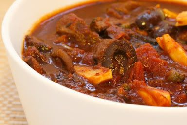 Crockpot Beef Stew Recipe with Olives, Garlic, Capers, and Tomatoes [from KalynsKitchen.com] South Beach Diet phase 1
