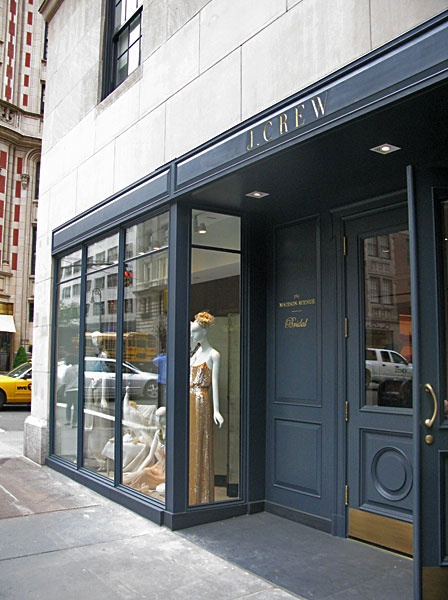 for the doors and the hardware at J. Crew's bridal shop