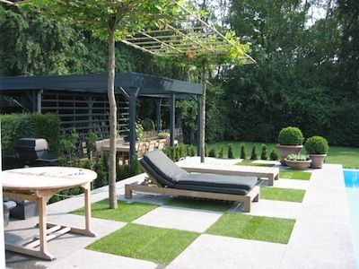 16 best images about tuinidee on pinterest gardens - Deco tuin met zwembad ...