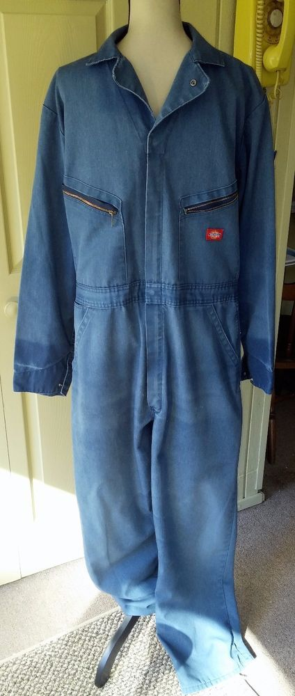 Dickies VTG Men's Coveralls Jumpsuit One Pc~Sz 44 Tall~Medium Blue Work~Mechanic | Clothing, Shoes & Accessories, Vintage, Men's Vintage Clothing | eBay!
