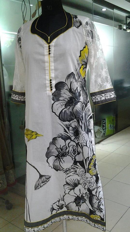 Hand Painted Punjabi Suit Clothes Painted Clothes