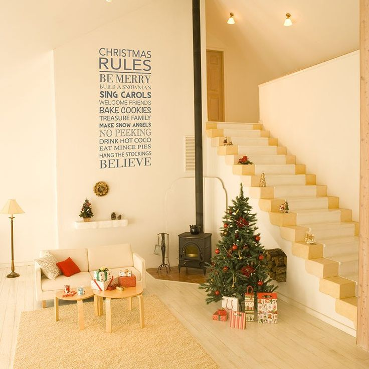 8 best Christmas Wall Stickers images on Pinterest | Wall decal ...