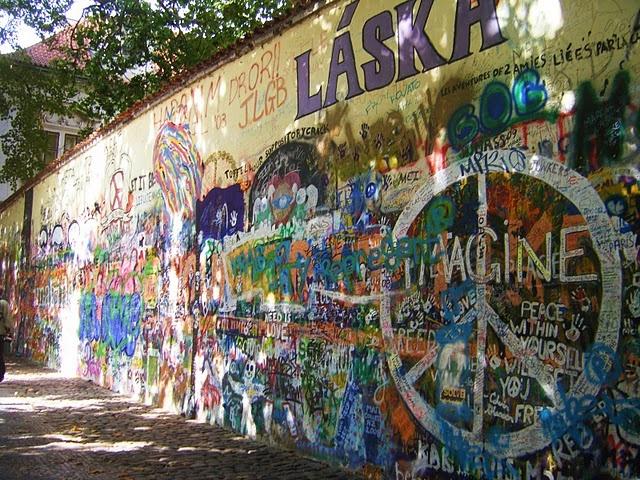 John Lennon Wall in Prauge.