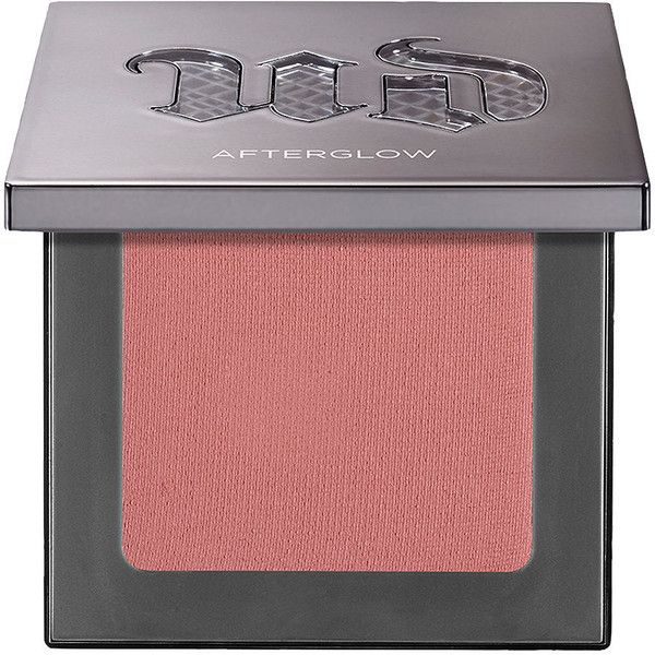 Urban Decay Afterglow Blush, Fetish 0.23 oz (6.8 g) (£17) ❤ liked on Polyvore featuring beauty products, makeup, cheek makeup, blush, beauty, urban decay blush, blushing, powder blush, urban decay and shimmer blush