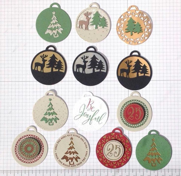 The Merriest Wishes stamp set & matching framelits make great holiday tags
