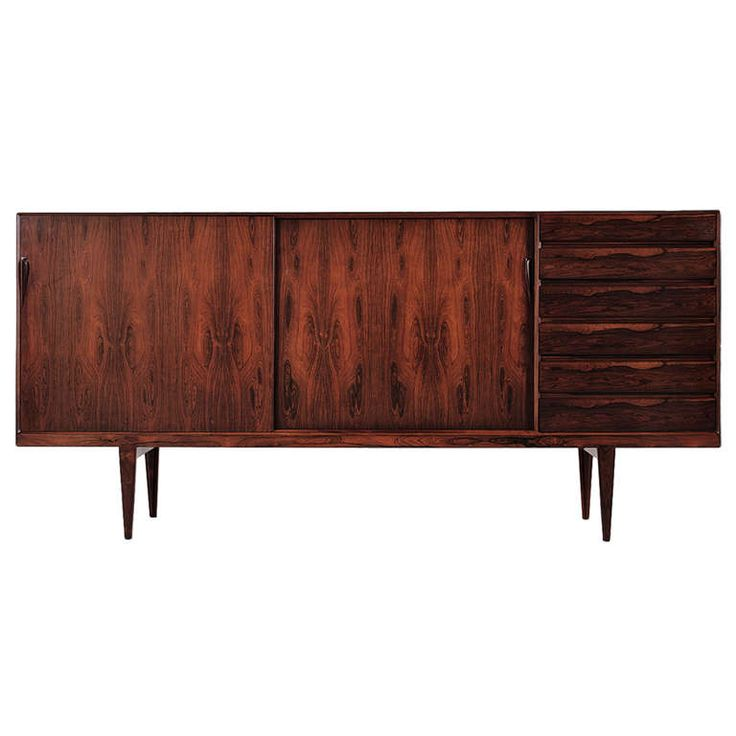 Rosewood Sideboard by Rosengren Hansen - High Model | From a unique collection of antique and modern sideboards at http://www.1stdibs.com/furniture/storage-case-pieces/sideboards/