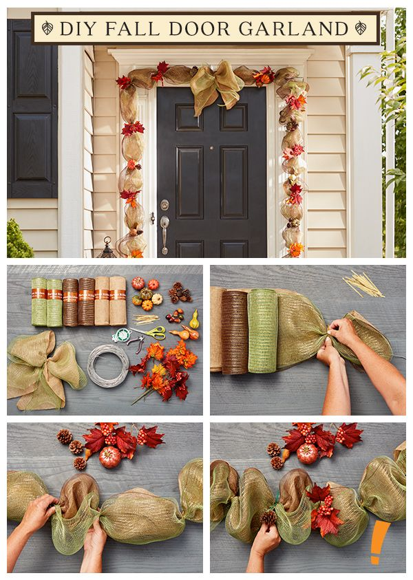 You'll be surprised at how easy it is to decorate any door frame with this classic garland!
