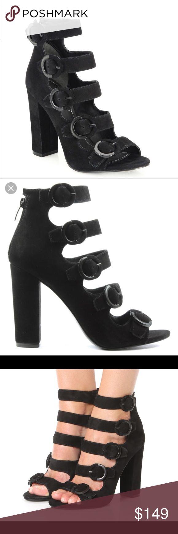 Kendall & Kylie heels Gorgeous black suede Kendall and Kylie heels from Saks 5th Ave Kendall & Kylie Shoes Heels