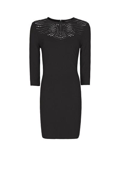 MANGO - Enges Kleid mit Perforierung