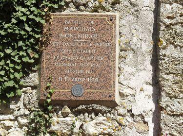 Montmirail - plaque commémorative
