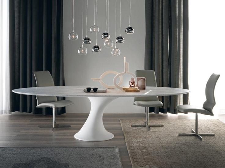 Ovaler Tisch aus Cristalplant® REEF - Cattelan Italia