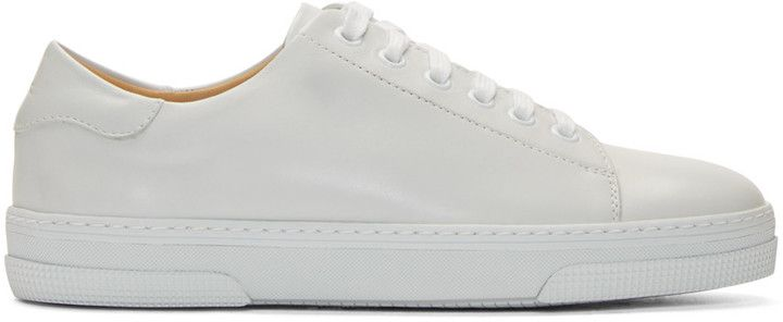 A.P.C. White Leather Steffi Tennis Sneakers