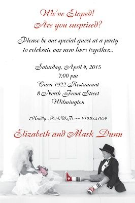 11 best invitations images on Pinterest Elopement party Party