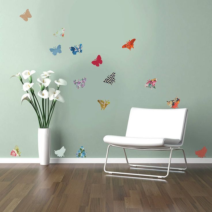 vintage style butterfly vinyl wall stickers by oakdene designs | notonthehighstreet.com