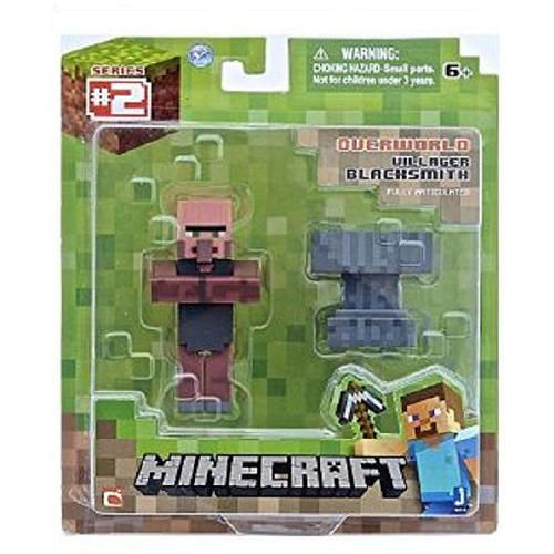 minecraft overworld 275 inch action figure villager blacksmith jazwares toys