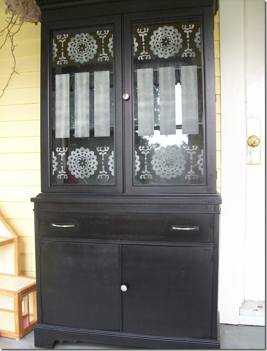 Hutch Makeover Before And After Refinished Furniture