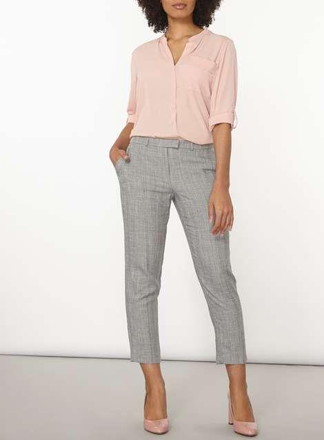 Herringbone Ankle Grazer Trousers - Workwear - Clothing - Dorothy Perkins