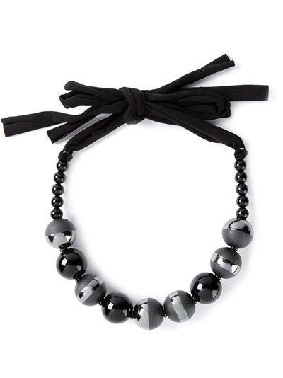 GIORGIO ARMANI Textured Beaded Necklace