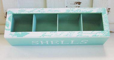 Sea Shell Display Box Single Row - Shell Collection - Coastal Beach Tabletop Decor - California Seashell Company
