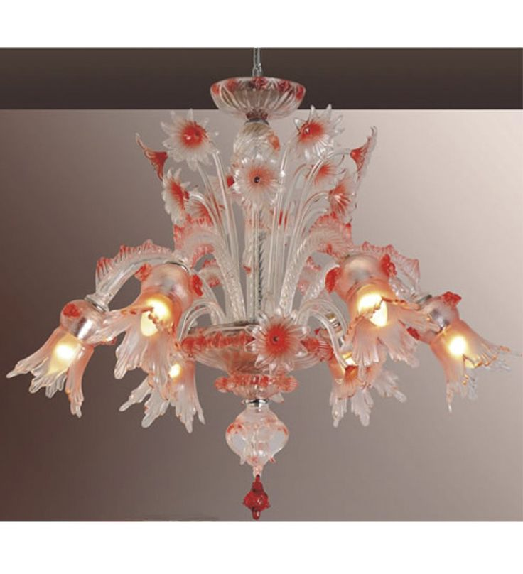 35 best murano glass style chandeliers images on pinterest traditional floral murano style chandelier with a colourful twist aloadofball Gallery
