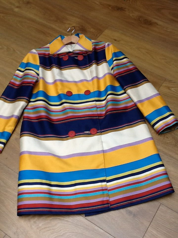 Miss Daisy Blue 1970s striped coat