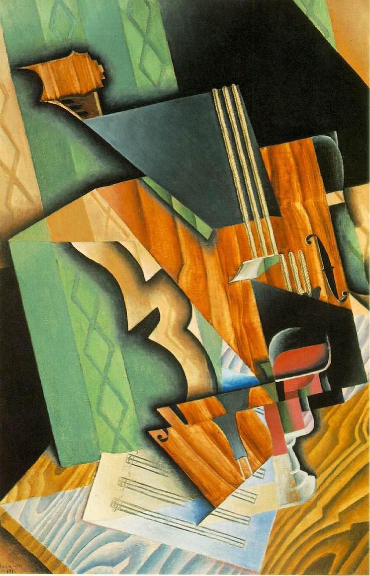 Juan Gris - Violin and Glass Painting