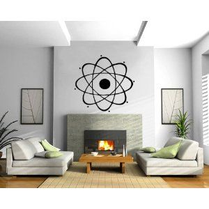 Atom Nuclear Science Physics Chemistry Decor Wall Mural Vinyl Decal Sticker M024