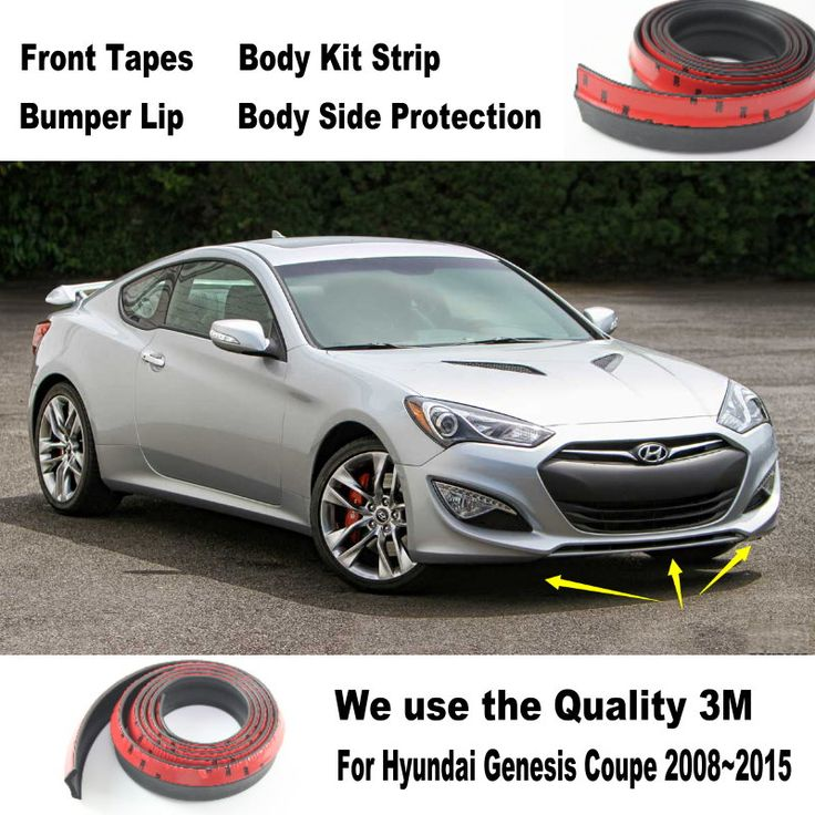 Car Bumper Lips For Hyundai Genesis Coupe 2008~2015 / Car Tuning / Body Kit Strip / Front Tapes / Body Chassis Side Protection #Affiliate
