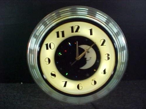 16 best clocks images on pinterest wall clocks antique watches beautiful vintage art deco light up moon rotating stars wall clock aloadofball Images