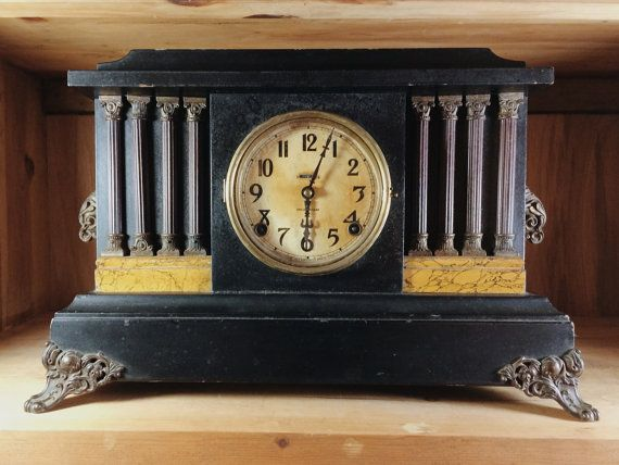 Hey, I found this really awesome Etsy listing at https://www.etsy.com/listing/178784251/antique-ingraham-black-mantel-clock-with