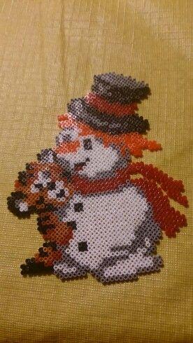 Muñeco nieve y tigre