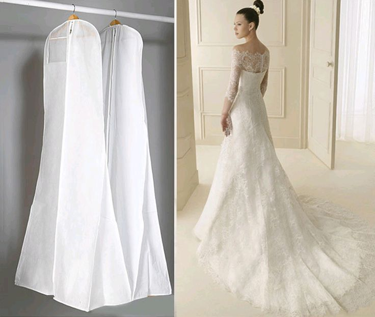 New  dust-proof Wedding Dress Cover Bags Clothes Cover Dust Cover Garment Bags Bridal Gown Bag For Mermaid Wedding Dress Cover