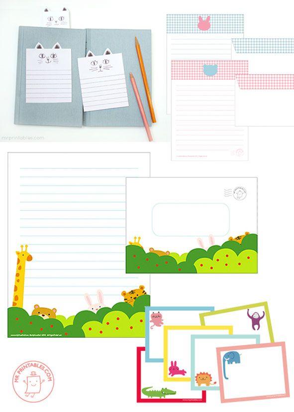 Gi det videre | Pay it forward: Brevpapir for barn - Children's stationary