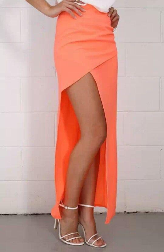 Fluro orange slirt