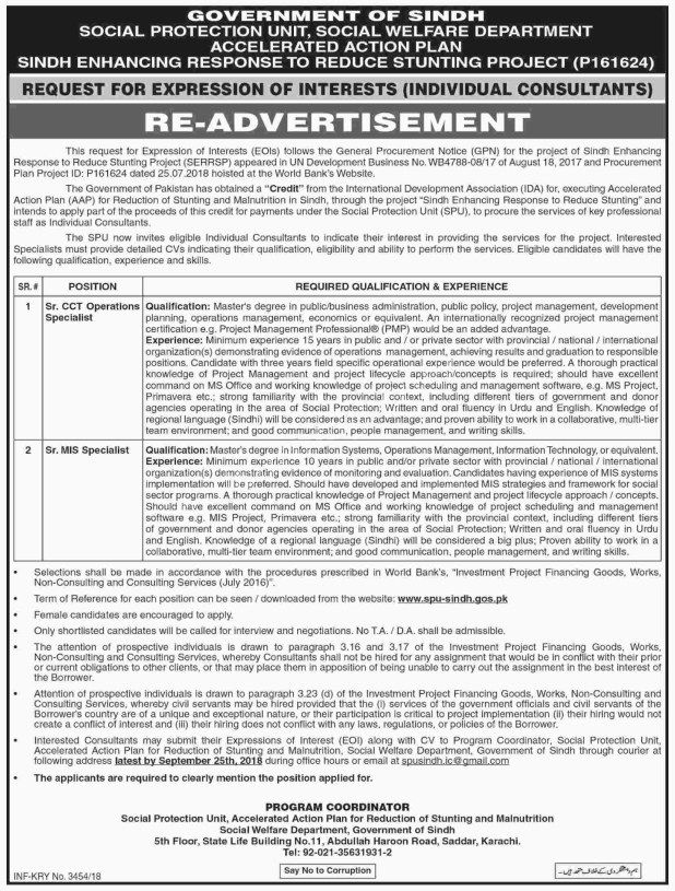 Workers Welfare Board Sindh Jobs 2018   Government Jobs