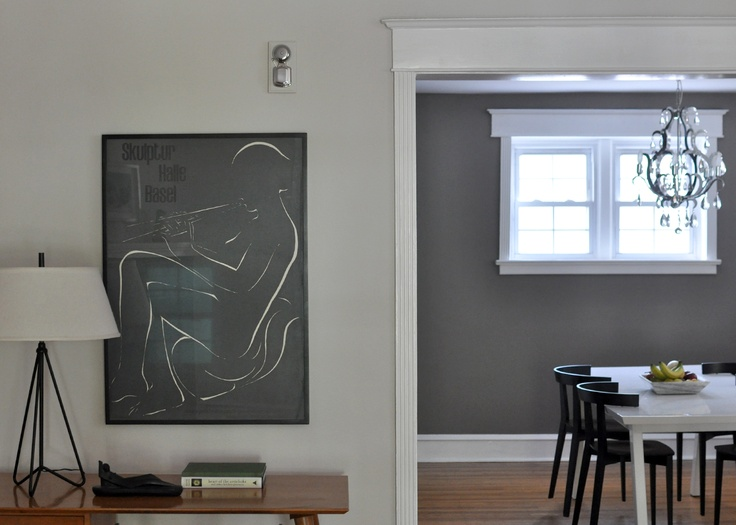 Benjamin Moore Pale Oak On The Left Restoration Slate On