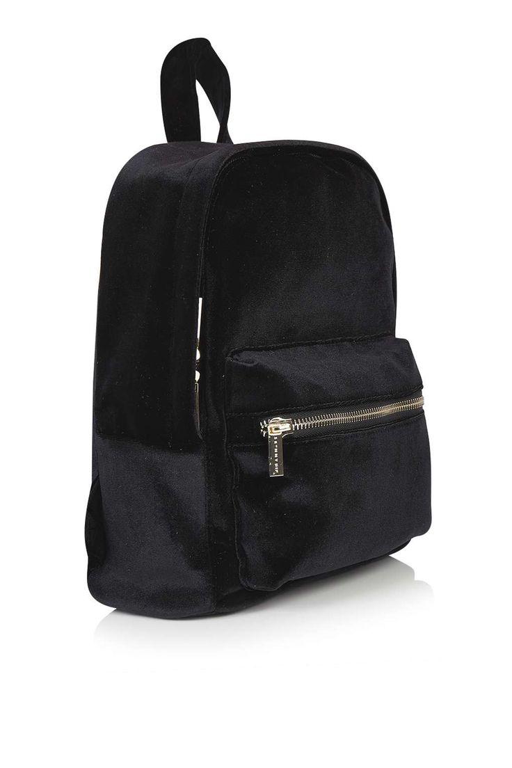 **Black Velvet Backpack by Skinny Dip - Topshop Europe