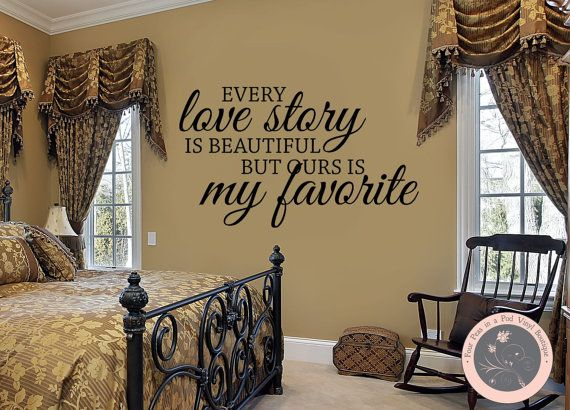 Wall Decal Every Love Story is Beautiful  by FourPeasinaPodVinyl, $17.00 wall decals, love story, beautiful, decals, vinyl lettering art https://www.etsy.com/shop/fourpeasinapodvinyl