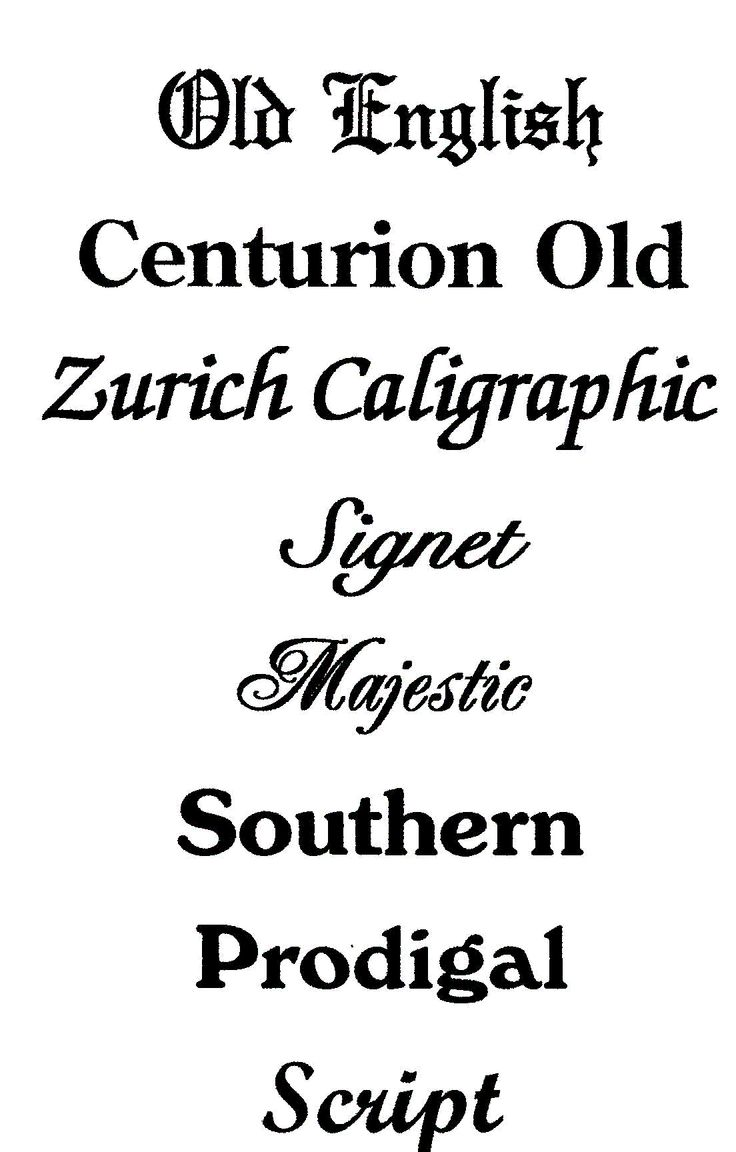 best different writing fonts - photo #23