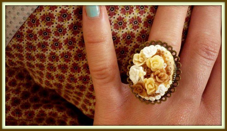 Handmade ring, modelling clay