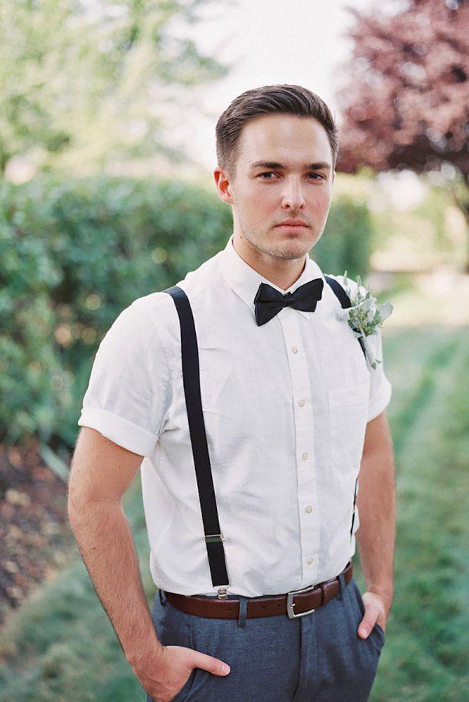 Rustic groom attire