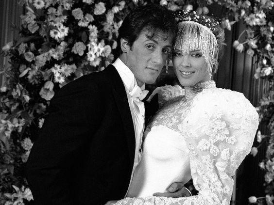 Sylvester Stallone and Brigitte Nielsen (1985) - Vintage Celebrity Wedding Photos - Photos