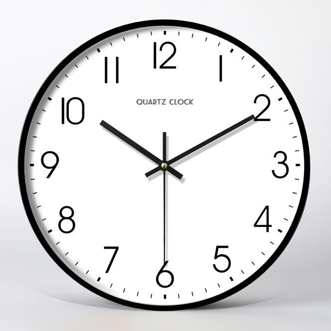 Features Easy To Read Large Black Number Against White Face Silent Non Ticking Mechanism Enjoy A Quiet Environment Pr Minimalist Wall Clocks Wall Clock Clock