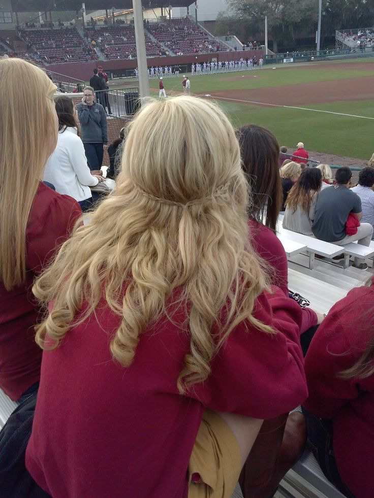 Sat in front of me at a baseball game and just thought her hair was really cute
