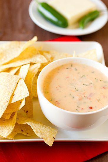 Chile con Queso -- calls for cheddar and Monterey Jack -- now if only my jalapenos would grow.