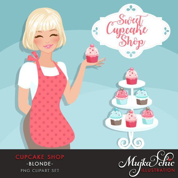 63130b844c4b Cupcake Shop Owner Avatar. Blonde woman holding a cupcake