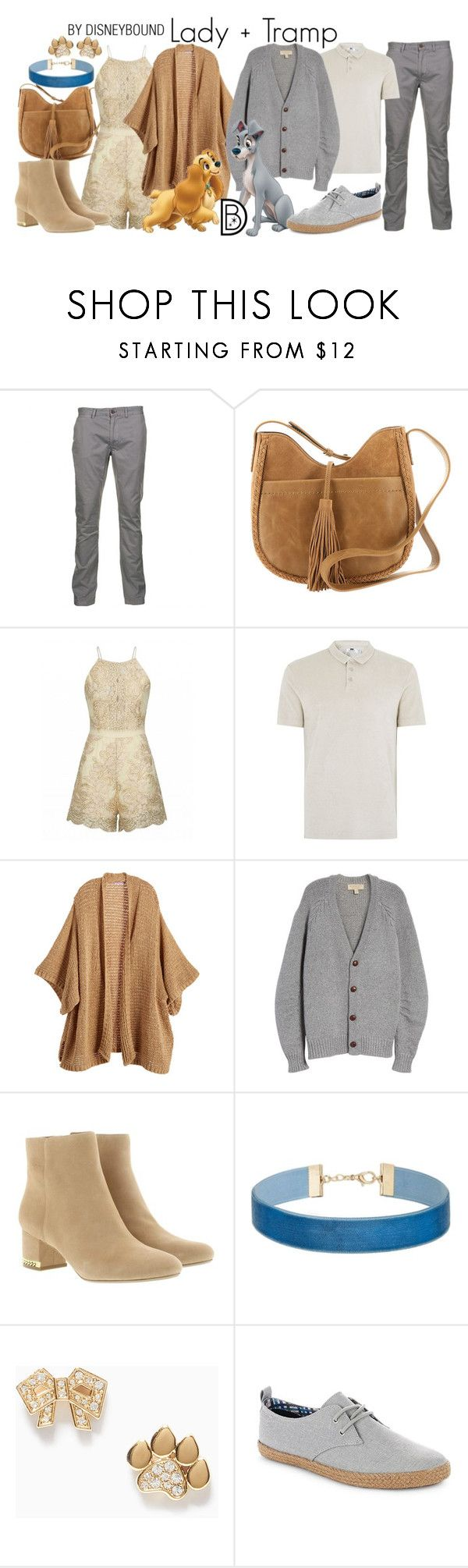 """""""Lady + Tramp"""" by leslieakay ❤ liked on Polyvore featuring Just A Cheap Shirt, Lucky Brand, Topman, Calypso St. Barth, Burberry, MICHAEL Michael Kors, Miss Selfridge, Max&Co., Ben Sherman and disney"""