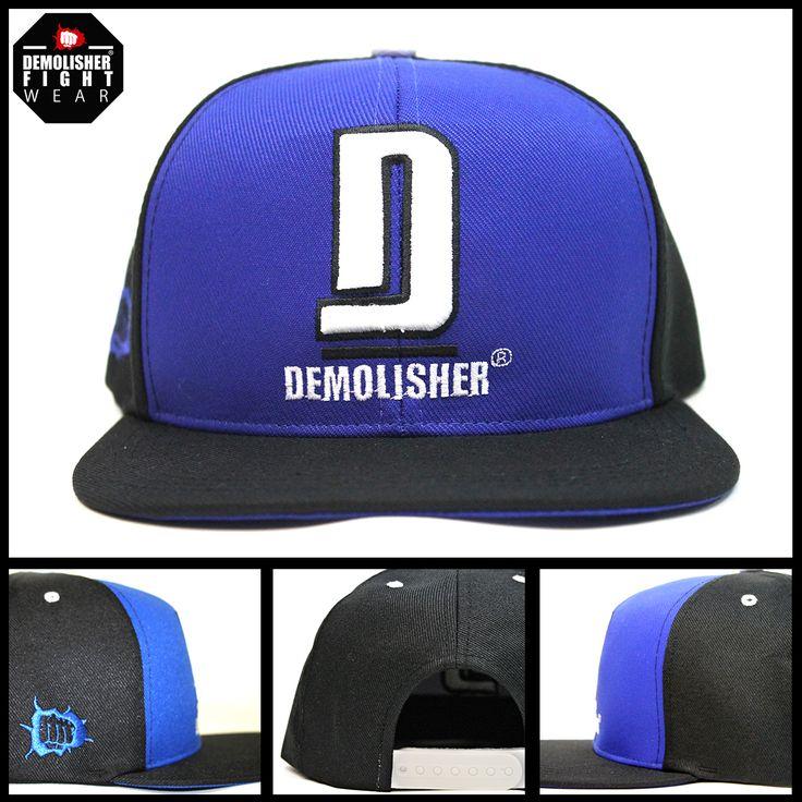 Boné Demolisher® Oficial - Azul e Preto /// Bordado D Demolisher  #DemolisherOficial #Porrada #Cap