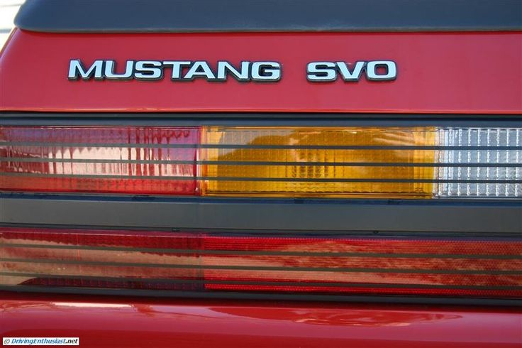 Mustang SVO survivor spotted at the January 2013 Cars and Coffee in Austin TX USA.